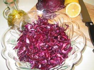 Red Cabbage Salad It's as good as the one from the kebab shop!