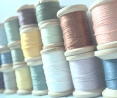 muted colored thread