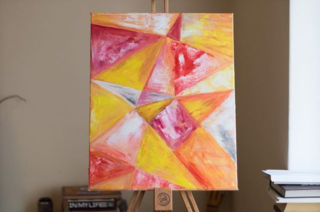 Geometry #abstractart #acrylic