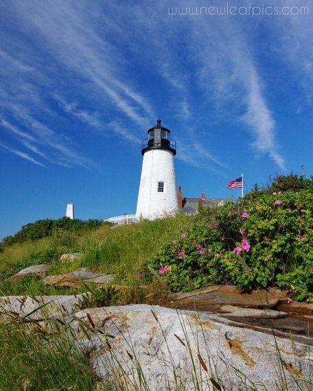 Pemaquid Point Lighthouse, Coastal Maine - by NewLeafPics, $25.00