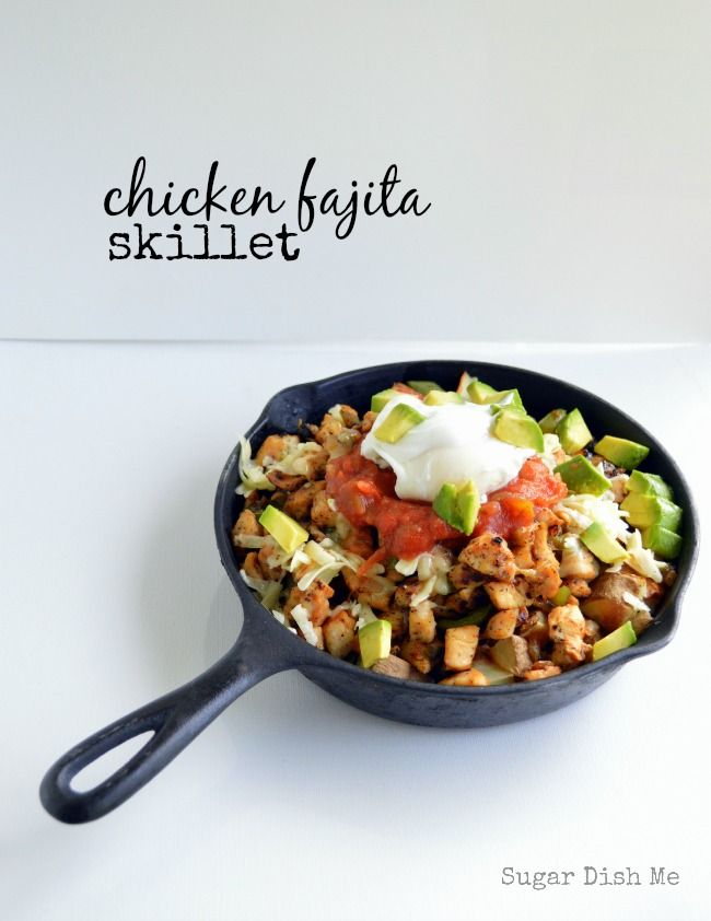 Chicken Fajita Skillet | Breakfast Skillet, Skillets and Home Fries