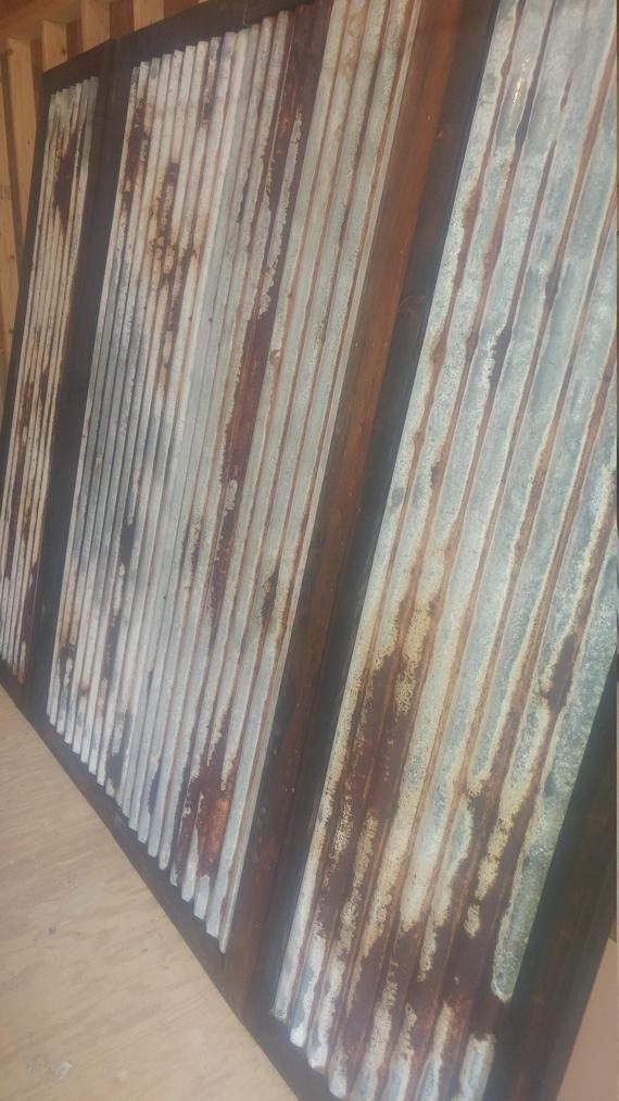 Beautiful Never Used Undamaged Rusted Tin Sheets Absolutely Beautiful Rusted Tin These Make Beautiful Walls And C Tin Panel Corrugated Metal Wall Barn Tin