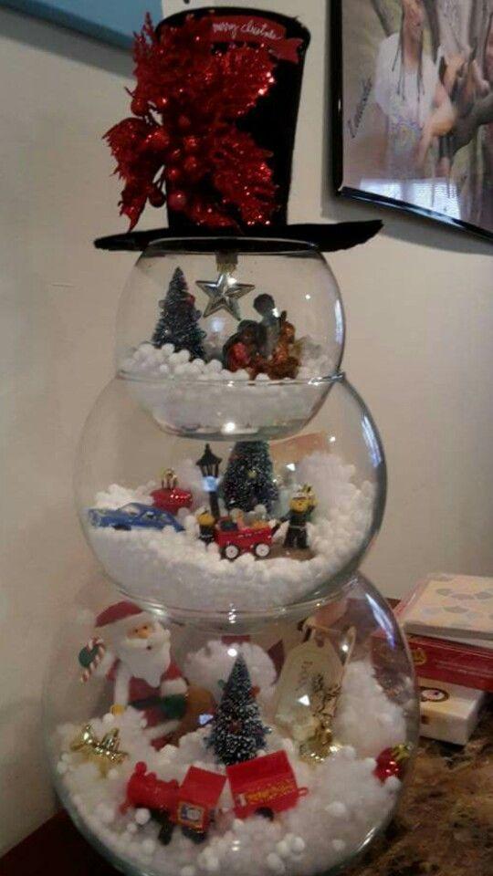 Fish Bowl Snowman...:-)
