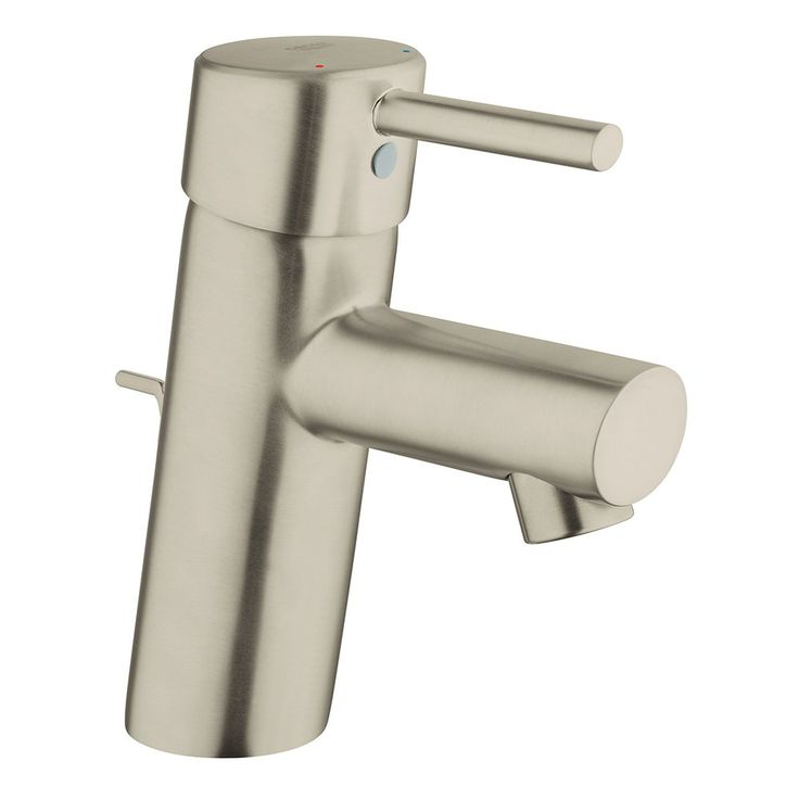 Photographic Gallery Grohe Brushed Nickel Concetto Single Handle Single Hole Bathroom Faucet with SilkMove Ceramic Disc Cartridge