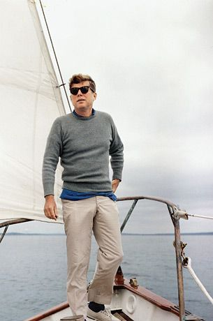 The images are iconic now—a rolled-up sleeve, an untucked shirt, a shaggy head of hair—like something out of a J.Crew catalog or a Ralph Lauren advertisement. But in 1961, Kennedy's confident, carefree style was a radical departure from the copycat boxy gray suits and felt hats that had defined men's fashion for previous generations.