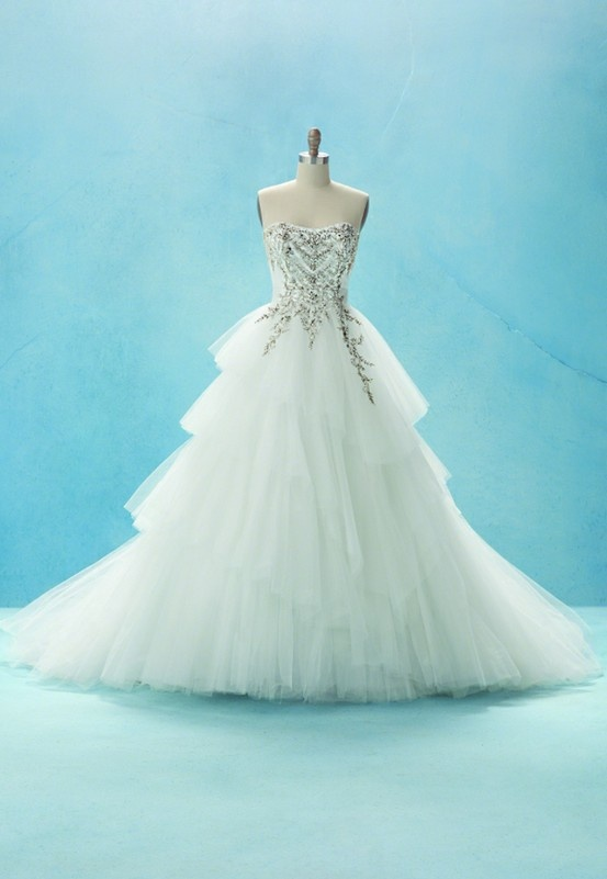 Awesome Cinderella inspired wedding dress by Disney Bridal This is totally gonna be my wedding dress