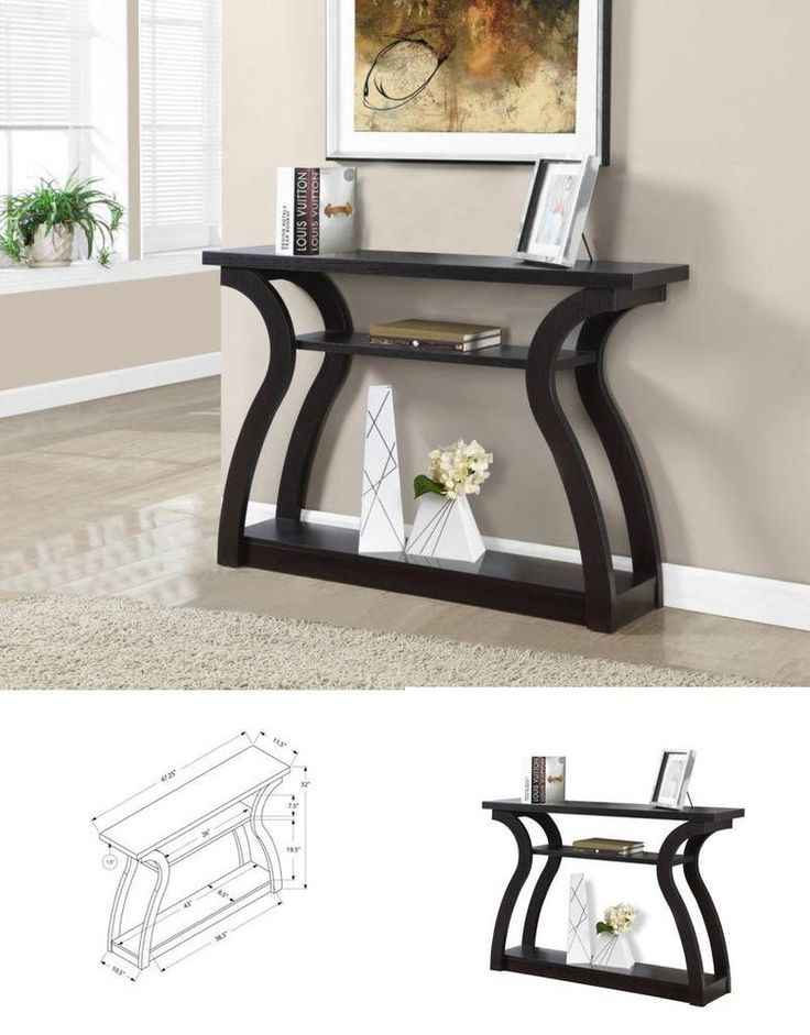 Hall Decoration Home Console Small Table Mdf Design Cappuccino Furniture  #Monarch => Easy & pleasant transaction => Quick delivery => 100% Feedback => http://bit.ly/24_hours_open #*24_hours_open*, #Hall,#Table,#Coffee,#Corner,#Furniture,#Decoration