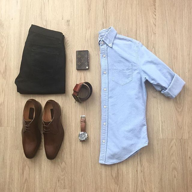 Classic, everyday outfit grid. Nicely done!