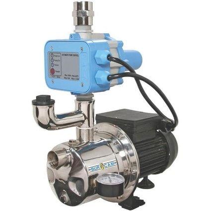 Bur-Cam Pump 506532SS Shallow Well Jet Pumps, 3/4 Hp, Silver stainless steel