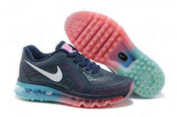 Nike Air Max 2014 Womens Dark Blue White Pink Shoes
