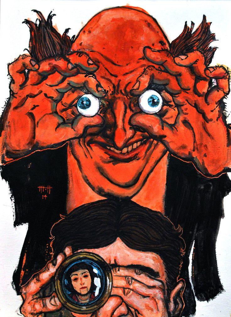 El hombre de arena, E. T. A. Hoffmann: Miradas que abrasan. Ilustración de Mariano Henestrosa para Fabulantes.