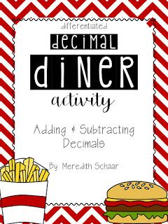 Decimal Diner Activity - Adding and Subtracting Decimals                                                                                                                                                     More