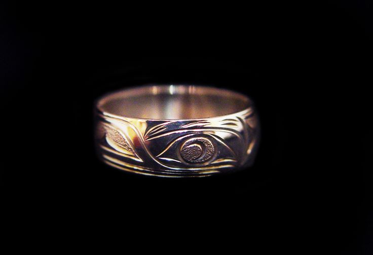 "Raven Ring, Joe Decoteaux. Sterling silver, 0.25"". Northwest Coast First Nations Jewelry."