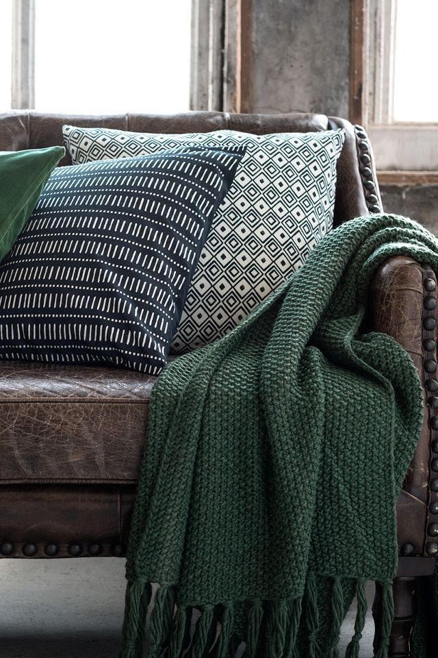 Love The Green Throw. Natural Fibers And Neutral Colors Add A Countryside  Feel To Sophisticated Surroundings.