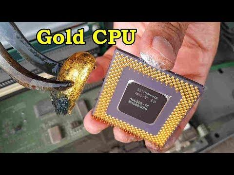 How to recycle gold from cpu computer scrap  value of gold