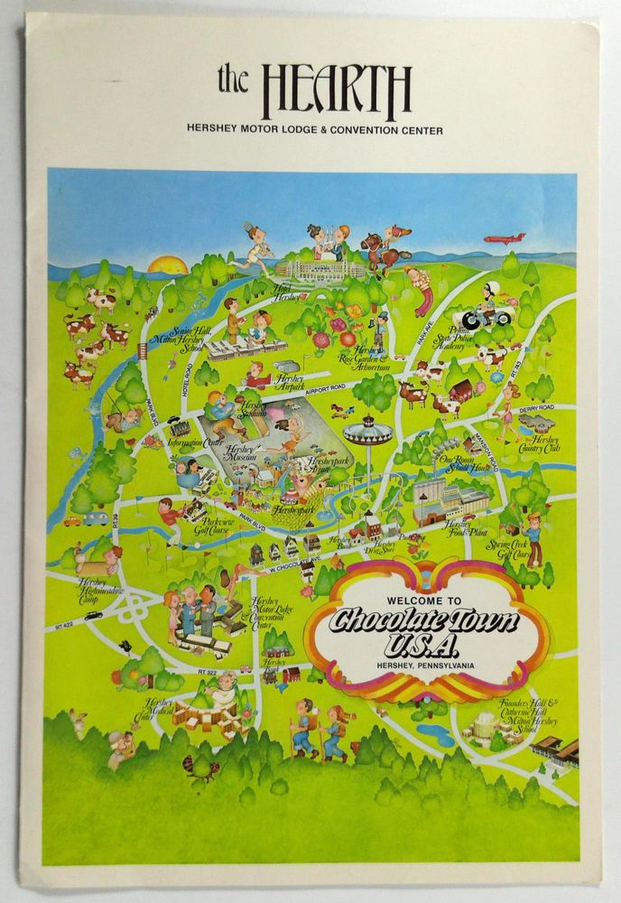 1975 Menu THE HEARTH Hershey Motor Lodge & Convention Center Chocolate Town PA