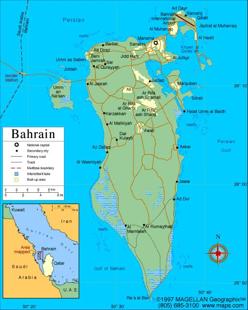 Map of Bahrain Capit