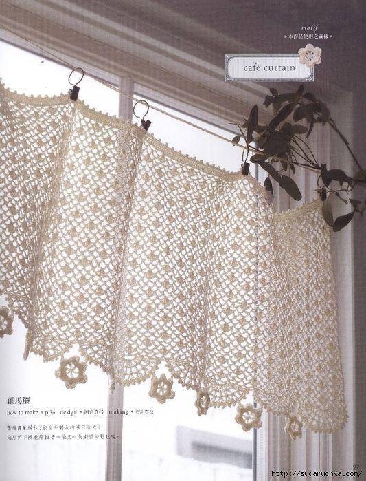 Curtains Ideas crochet curtain patterns valances : 320 best ideas about Crochet curtains on Pinterest | Filet crochet ...