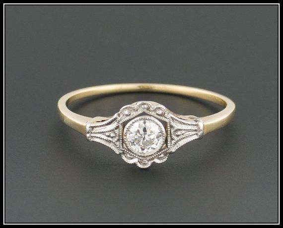 New A gorgeous diamond engagement ring from the Edwardian era circa This antique ring features a point carat transitional