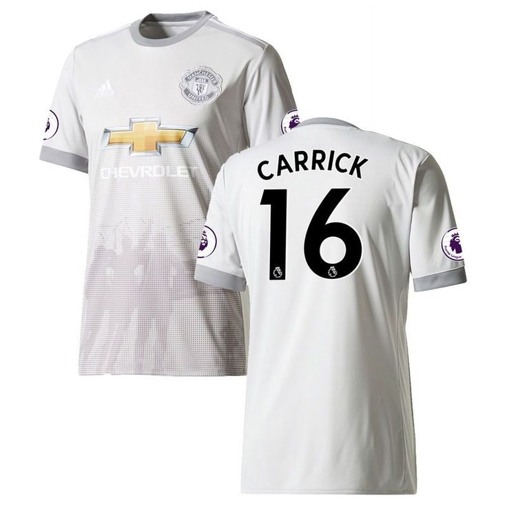 Michael Carrick Manchester United adidas Youth 2017/18 Third Replica Jersey - Gray