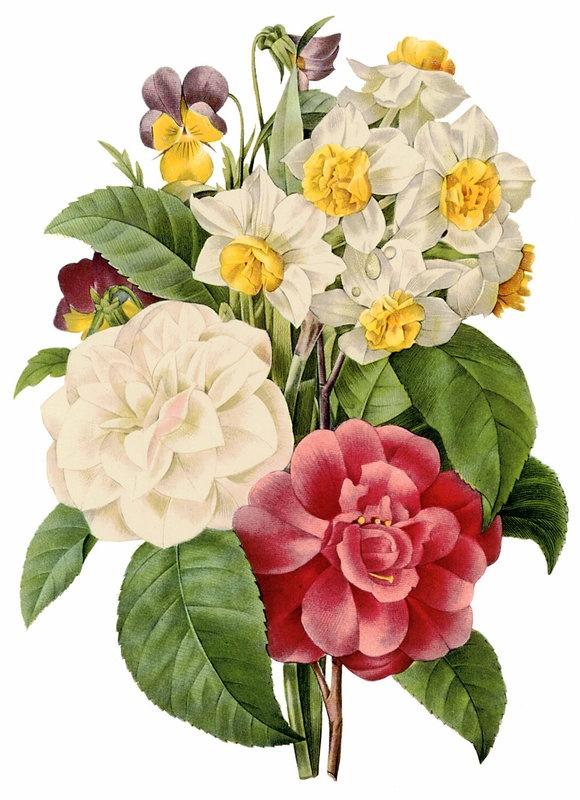 La Bande des Faineantes -  Vintage printable - Bouquet