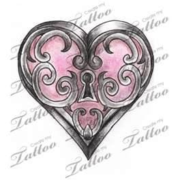 Marketplace Tattoo Heart Locket Createmytattoocom