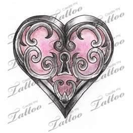 Marketplace Tattoo Heart Locket Createmytattoocom