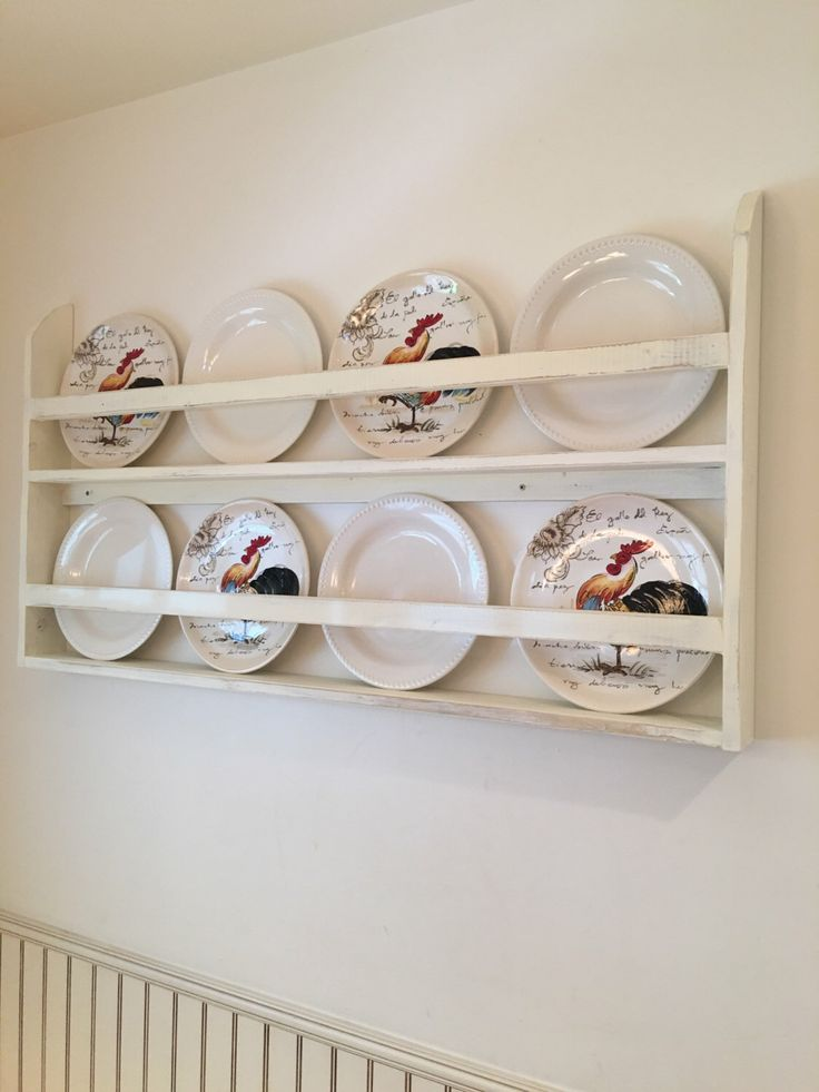 Plate Rack Plate Holder Wall Mounted Plate Shelf by FooFooLaLaChild on Etsy https://www.etsy.com/listing/493266265/plate-rack-plate-holder-wall-mounted