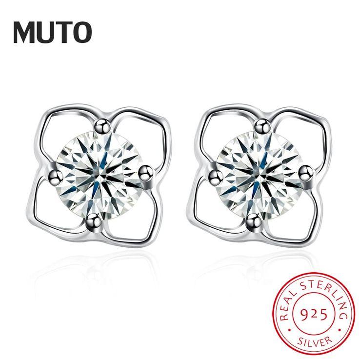 Fine Beautiful Flower 925 Sterling Silver Stud Earrings //Price: $7.95 & FREE Shipping //     #love