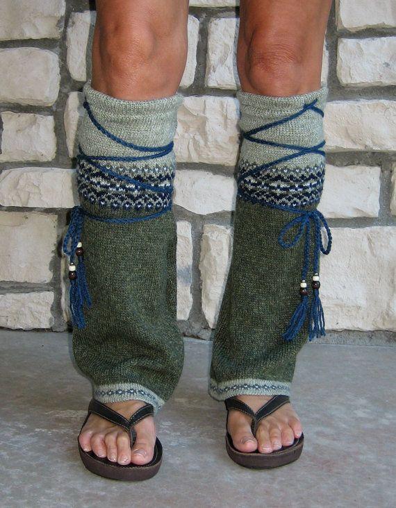 Tribal Flair' Leg Warmers Hippie Clothing Boho Clothing Upcycled ...