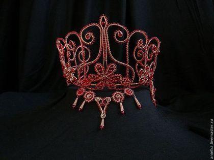 Красная корона Хюррем.  Диадемы, обручи ручной работы. Заказать в Мастерской Аниэльки. Ярмарка Мастеров.