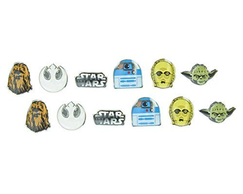 Loungefly Epic Star Wars C3PO, Yoda, Chewbacca - 6 Pair Earrings Pack //Price: $12.69 & FREE Shipping //     #starwarscollection