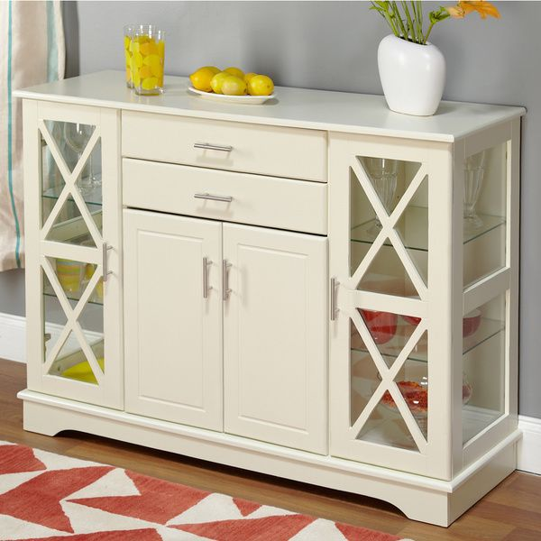 Simple Living Antique White Kendall Buffet Beige Off