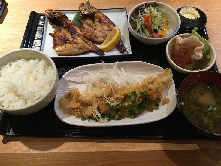 のどぐろ& 穴子天ぷら定食 good!