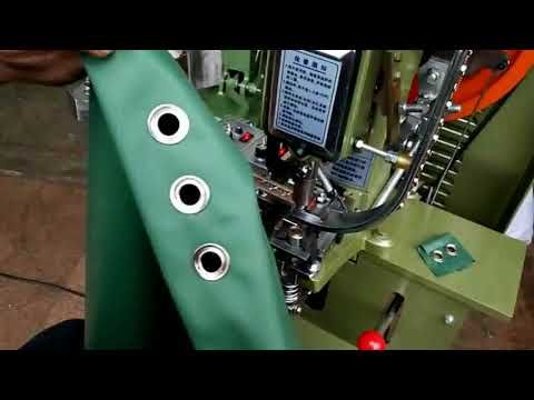 Fully Automatic Eyelet Machine Auto feed eyelet and washer with two vibr...
