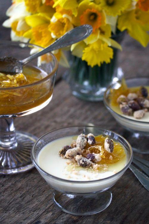 Panna Cotta And Lemon Marmalade Panna Cotta Is Exquisite No Matter What Flavor It Is