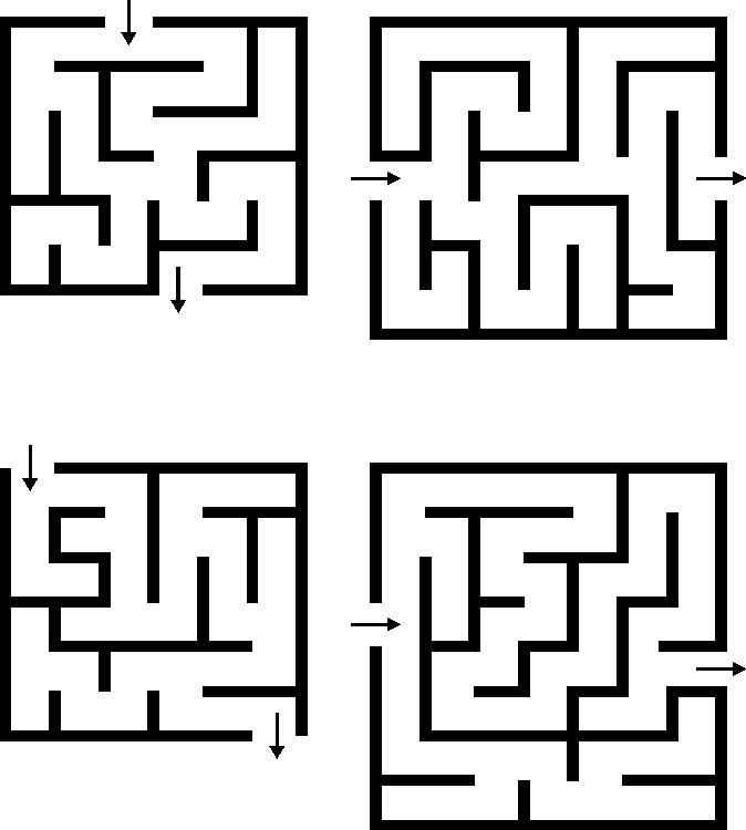 Use masking tape to put these mazes on the floor---worked well for cars and little feet