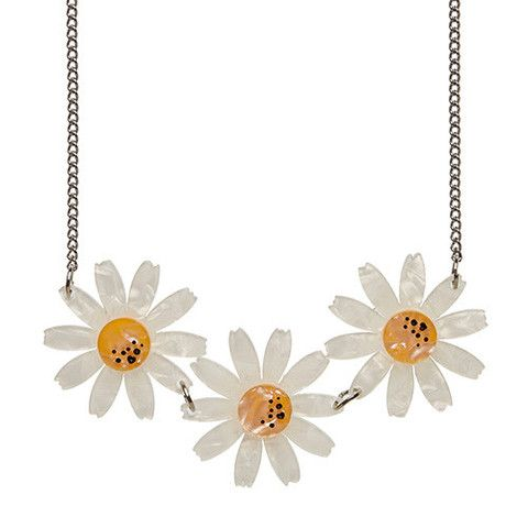 "Erstwilder Limited Edition Daisy Chain  Necklace. ""As far as floral arrangements go we adore the stunning simplicity of a series of daisies. Reminds us of days on the green."""