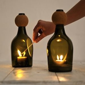15 Wine Bottle Candle Holder Ideas | Guide Patterns                                                                                                                                                                                 Mehr