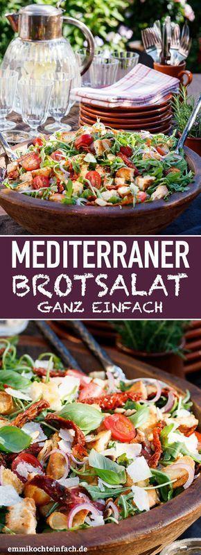 Mediterraner Brotsalat – schnell und einfach   – essen