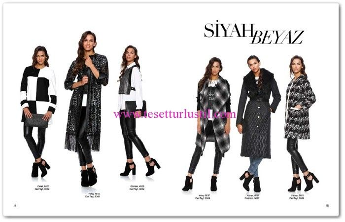 Seçil Giyim 2016 Siyah Beyaz Giyim Modelleri