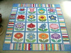 "From the book ""Flower Festival"" by Kim Schaefer Attic Window Quilt Shop: FLOWERS FOR MOTHER'S DAY"