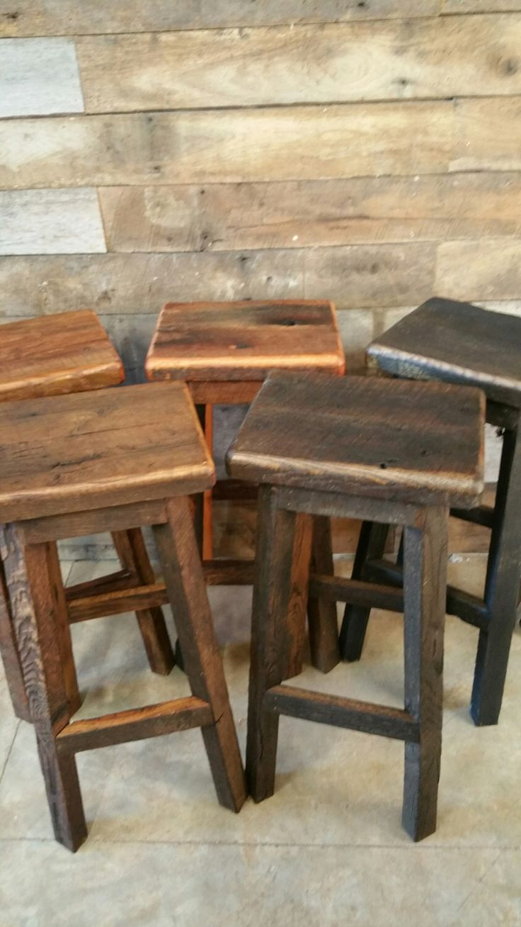 Wood bar barnwood bar barnwood furniture rustic furniture basement - Reclaimed Rectangle Barn Wood Bar Stool Sealed Or Painted Free Shipping Rebsc128f By Timelessjourney On