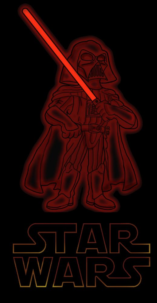Darth Vader, my favorite character from the Star Wars Saga.