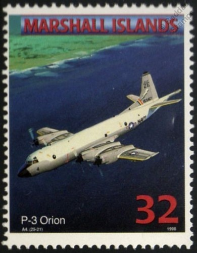 US Navy LOCKHEED P-3 ORION Maritime Patrol Aircraft Airplane Mint Stamp