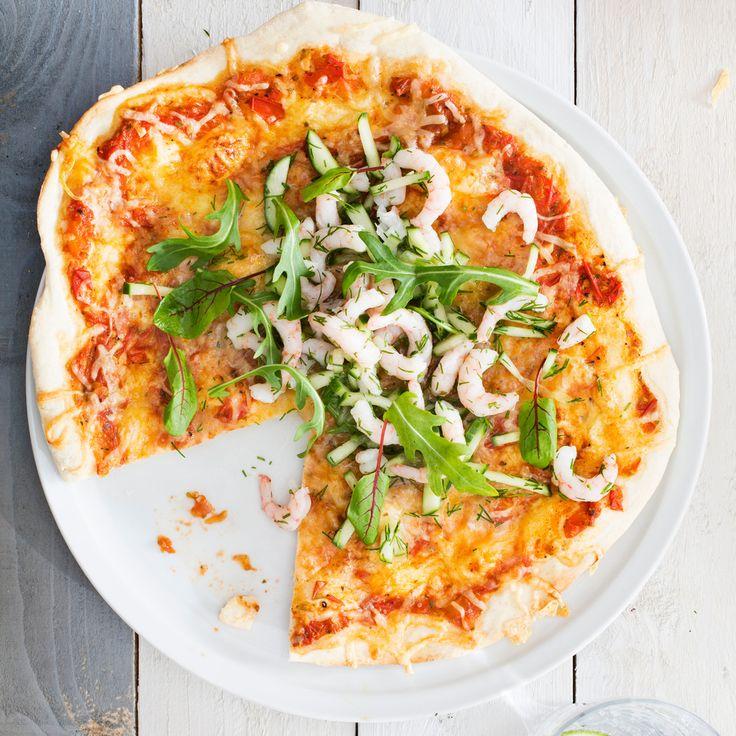 katkarapumargarita pizza