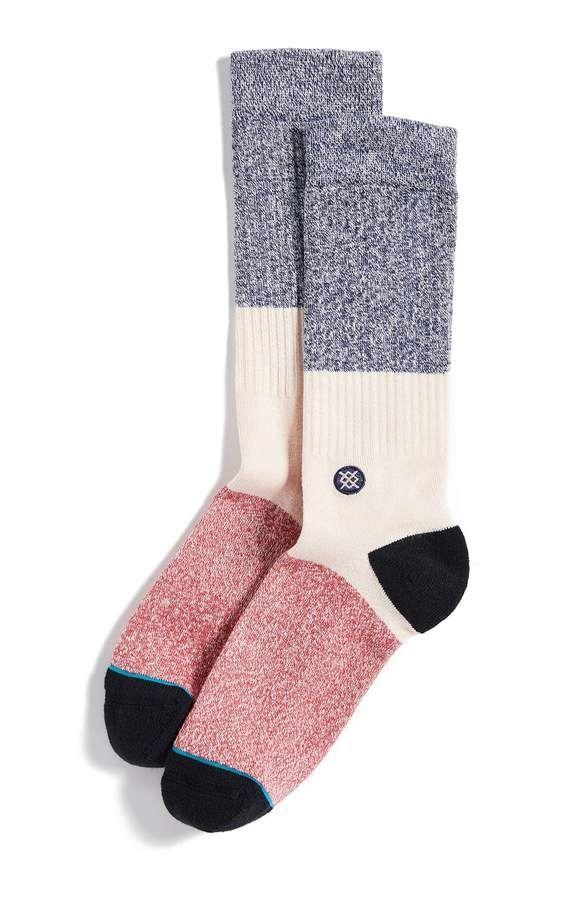 Stance Goodbye Crew Socks in Pink