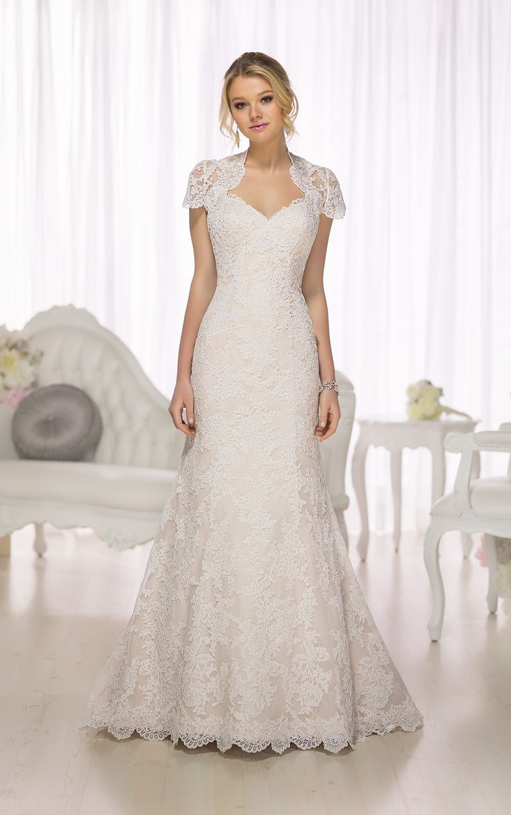 140 best dresses images on pinterest girls dresses wedding created with vintage inspired lace this beautiful modified a line wedding dress from essense of australia offers the option of a stunning lace illusion ombrellifo Images