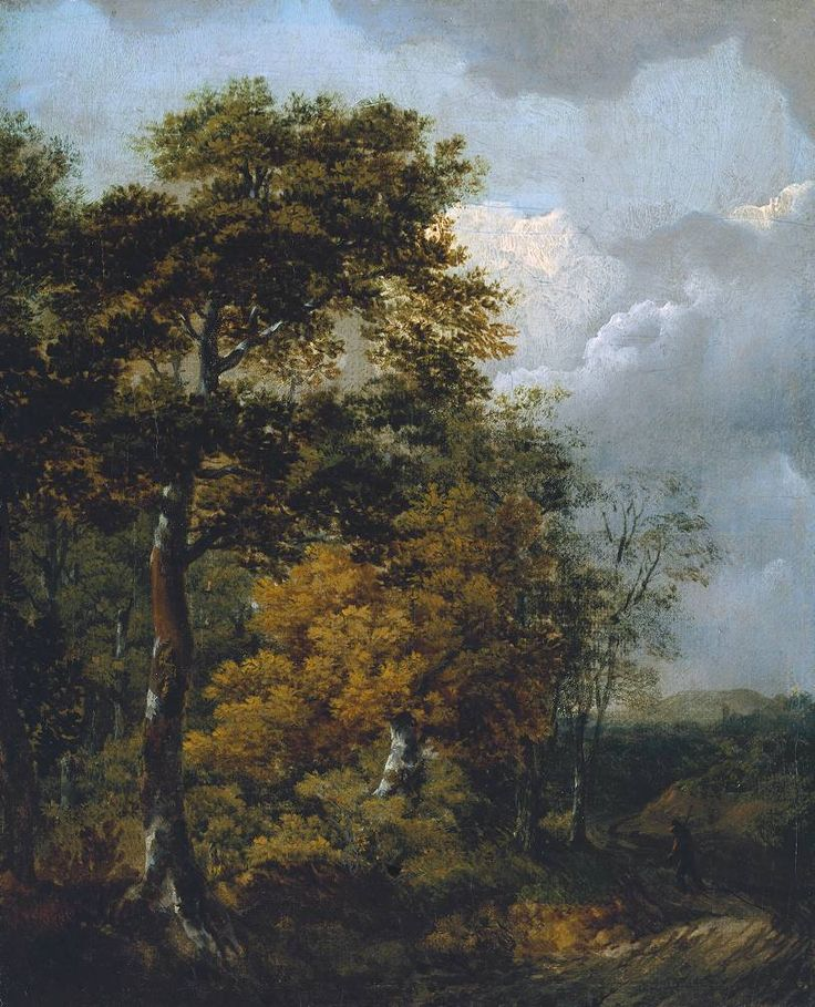 Thomas Gainsborough 'Landscape with a Peasant on a Path', c.1746–7