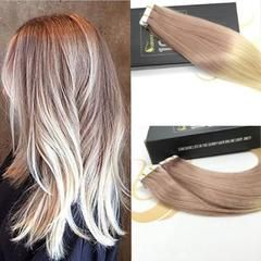Tape in Ombre Human Hair Extensions #T18/613